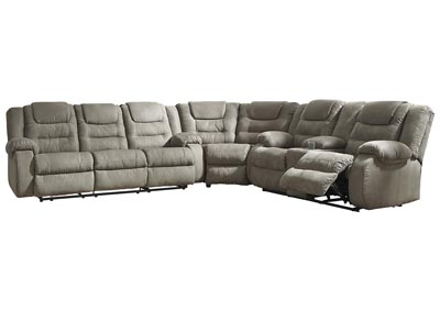 McCade Cobblestone Reclining Sectional,Signature Design By Ashley
