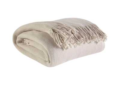 Image for Haiden Ivory/Taupe Throw (3/CS)