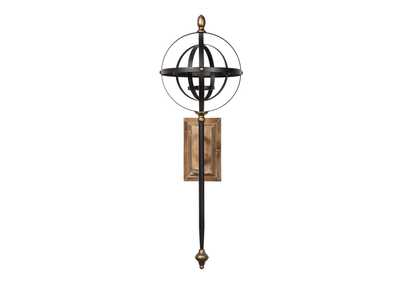 Image for Dina Black/Gold Finish Wall Sconce
