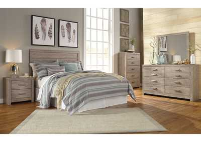 Culverbach Gray Queen/Full Panel Headboard w/Dresser & Mirror,Signature Design By Ashley