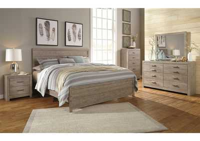 Culverbach Gray Queen Panel Bed w/Dresser and Mirror,Signature Design By Ashley