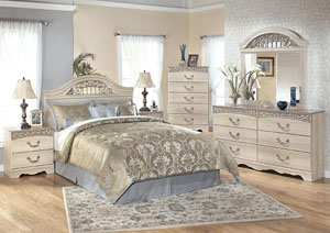Catalina Queen Panel Headboard, Dresser & Mirror,Signature Design By Ashley