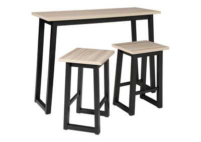 Image for Waylowe Counter Height Dining Room Table and Bar Stools (Set of 3)