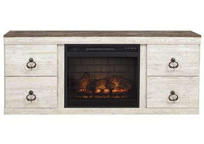 "Image for Willowton Whitewash 63"" TV Stand w/Fireplace Insert Infrared"
