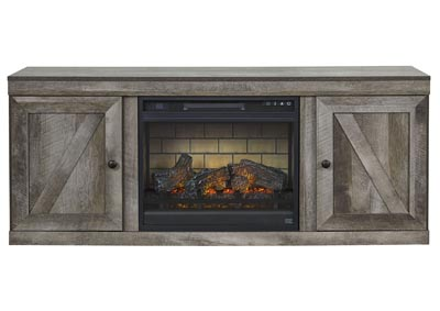 "Image for Wynnlow Gray 63"" TV Stand w/Fireplace Insert Infrared"