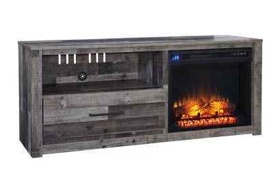 "Image for Derekson Multi Gray 59"" TV Stand w/Fireplace Insert Infrared"