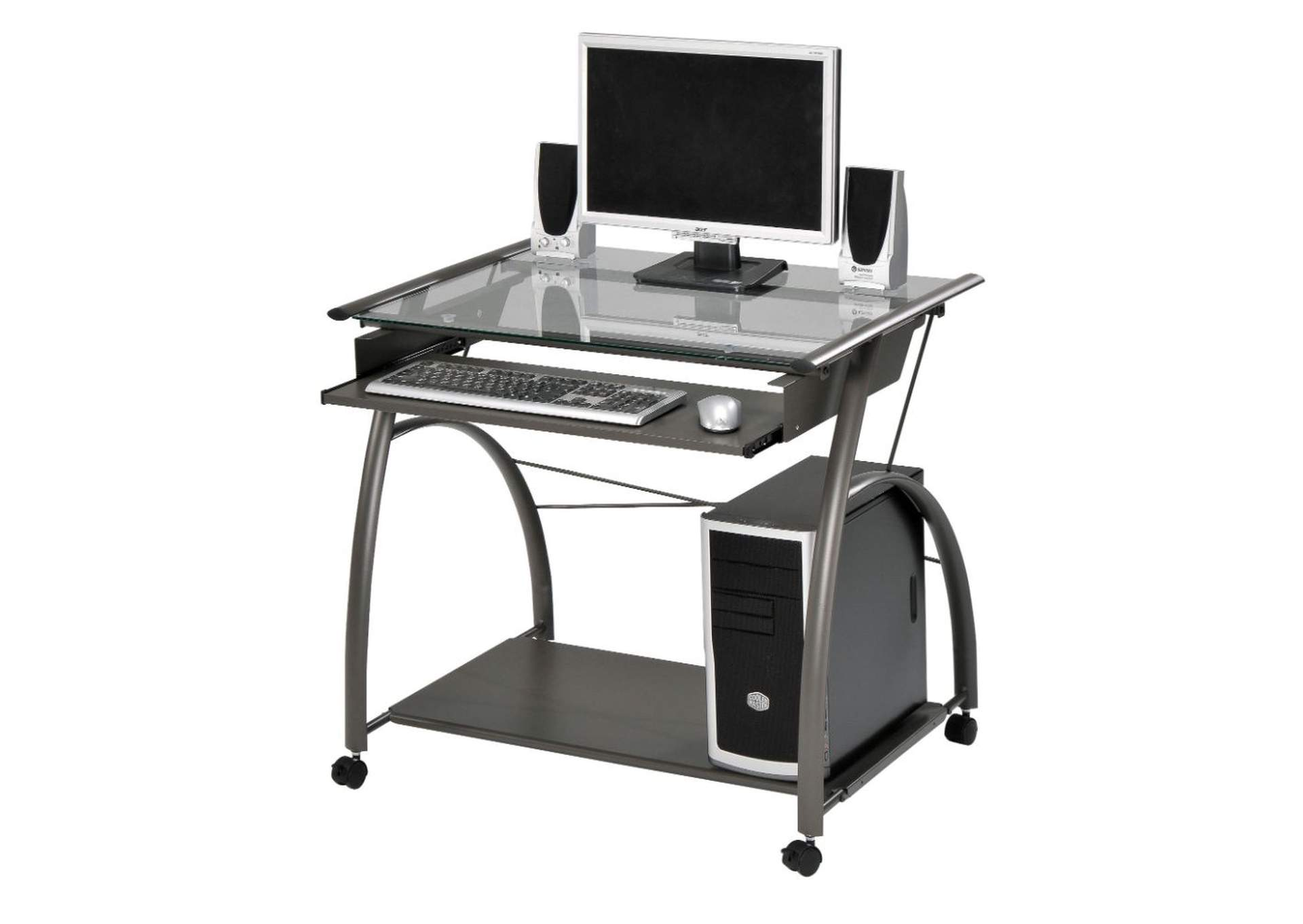 Vincent Pewter Computer Desk,Acme