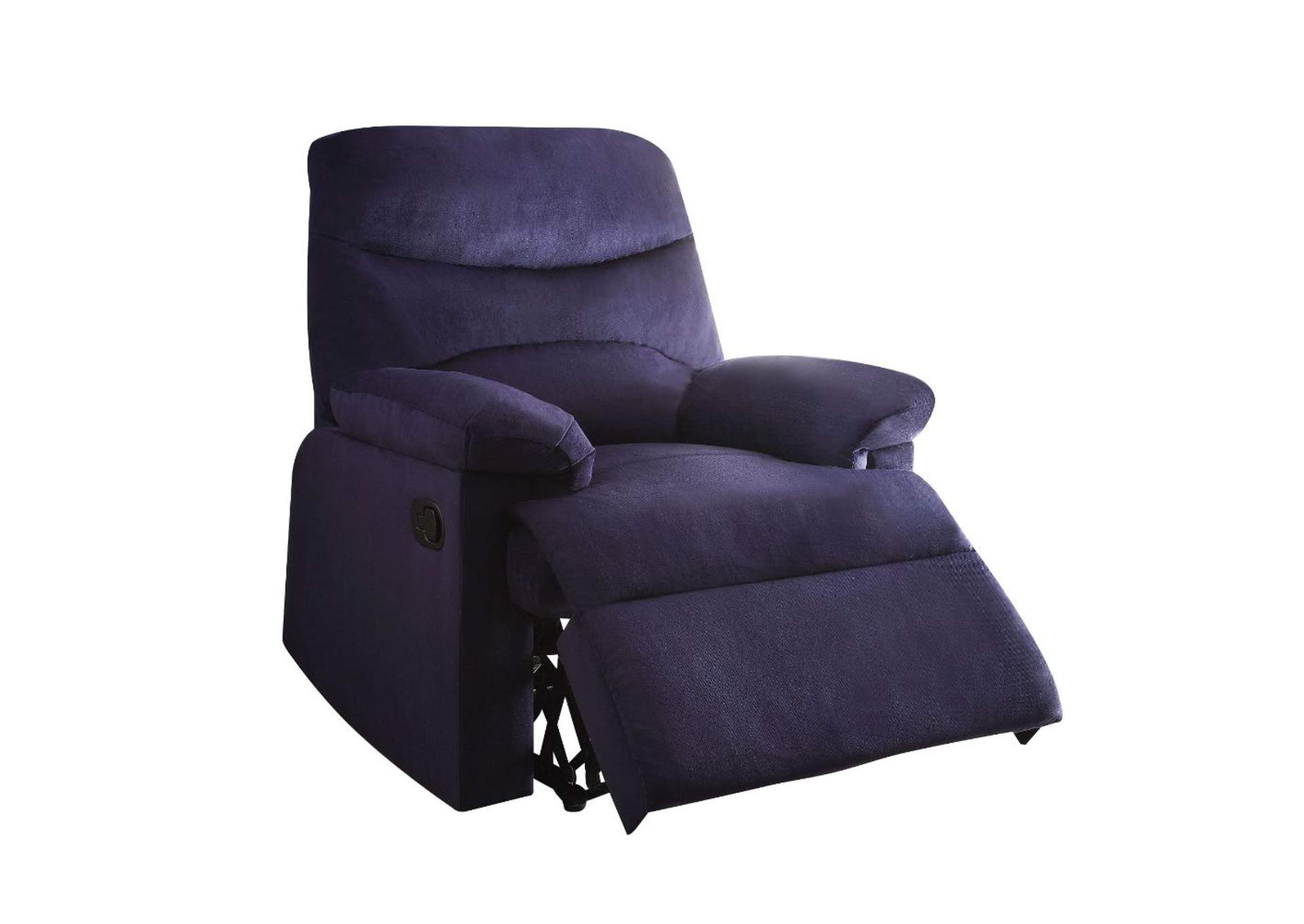 Arcadia Blue Recliner (Motion),Acme