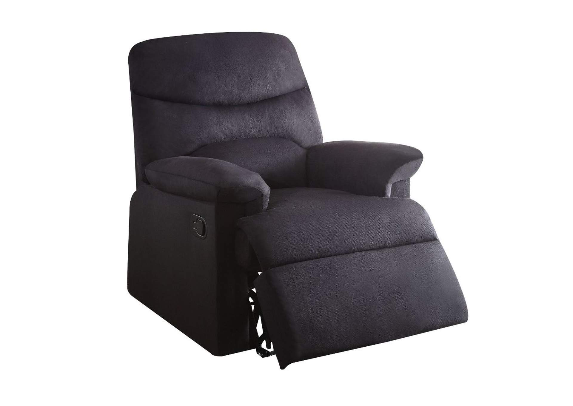 Arcadia Black Recliner (Motion),Acme