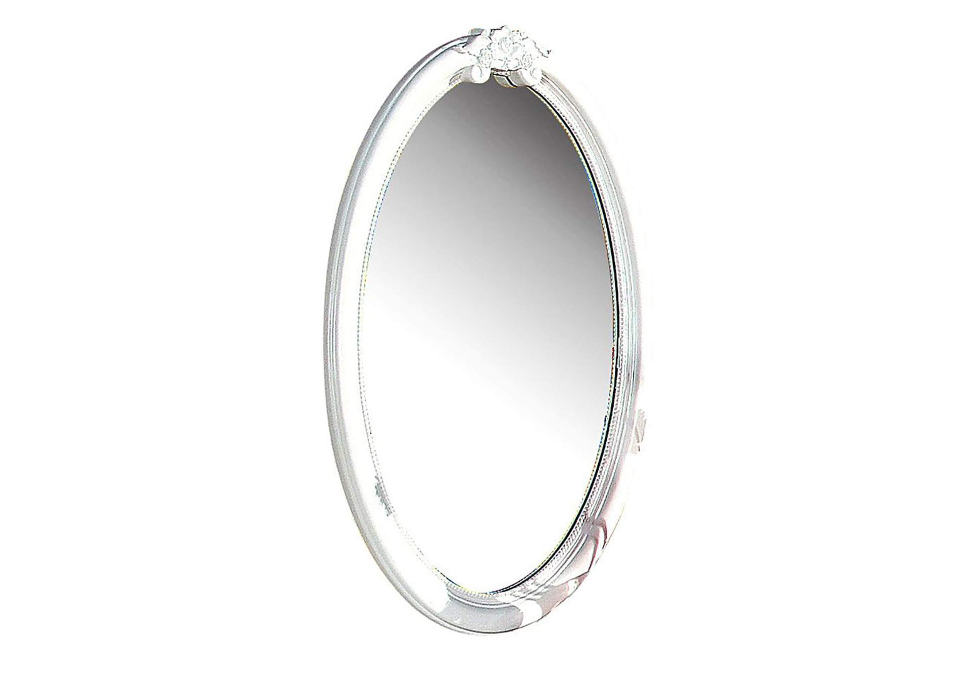 Flora White Oval Mirror,Acme