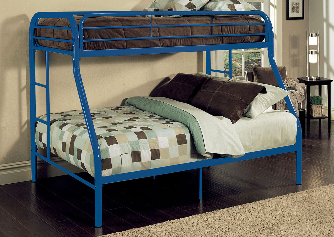 Tritan Blue Twin/Full Bunk Bed,Acme