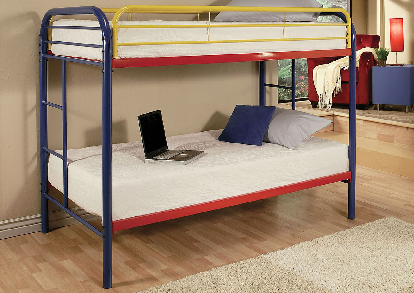 Thomas Rainbow Twin/Twin Bunk Bed,Acme
