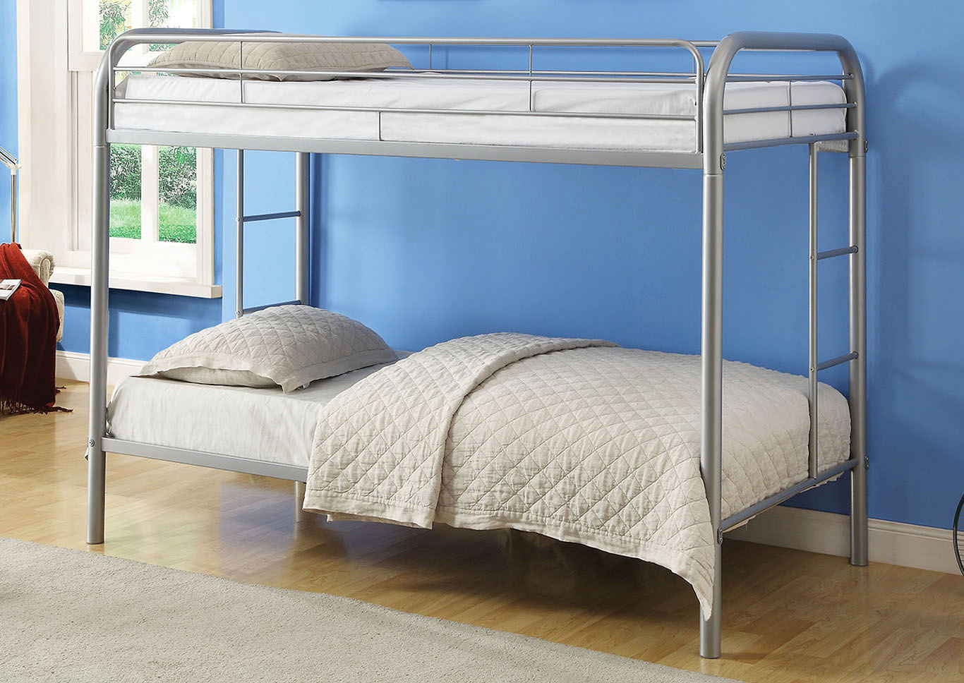 Thomas Silver Twin/Twin Bunk Bed,Acme