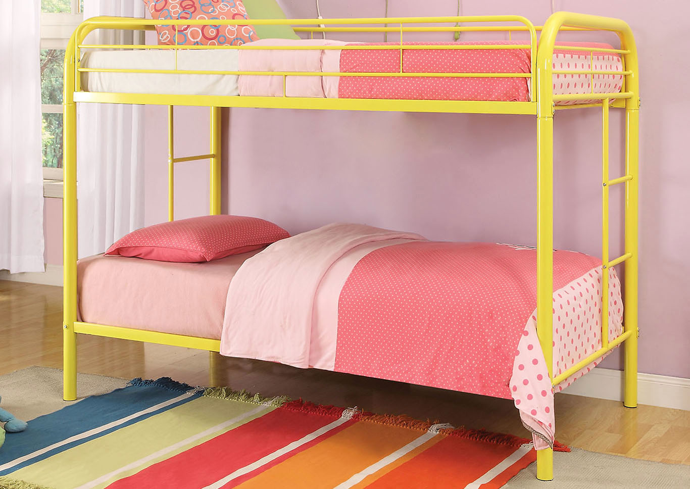 Thomas Yellow Twin/Twin Bunk Bed,Acme