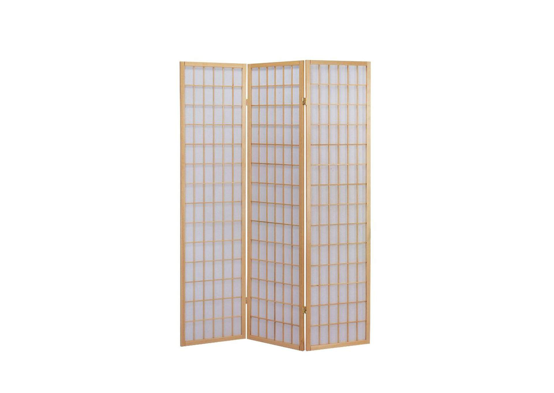Naomi Natural 3-Panel Room Divider,Acme