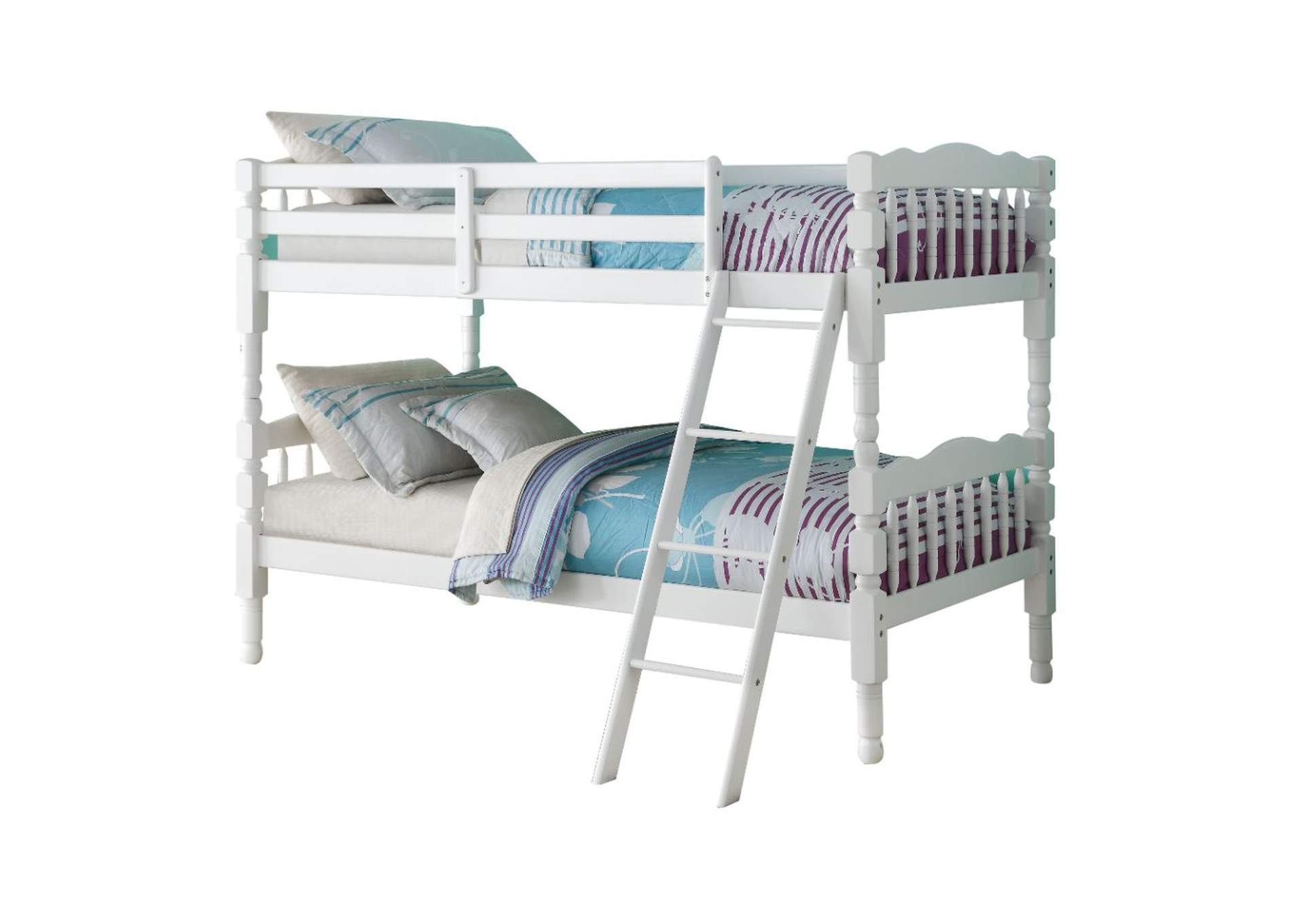 Homestead White Twin/Twin Bunk Bed,Acme