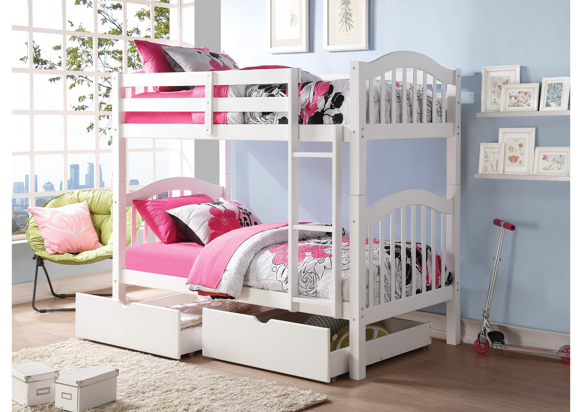 Heartland White Twin/Twin Bunk Bed,Acme