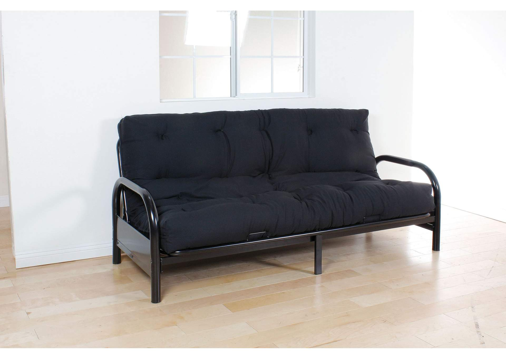 Nabila Black Full Futon Mattress 6 H Best Buy Furniture And Mattress