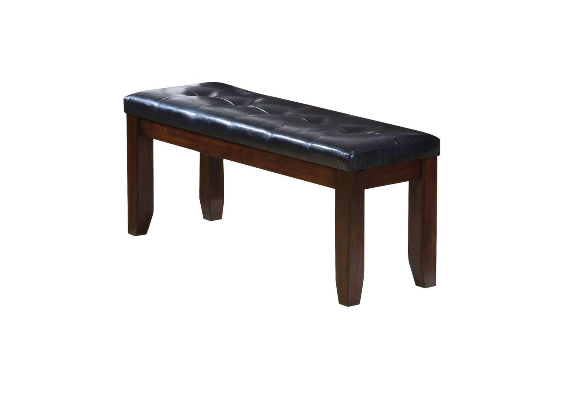 Urbana Black/Cherry Bench,Acme