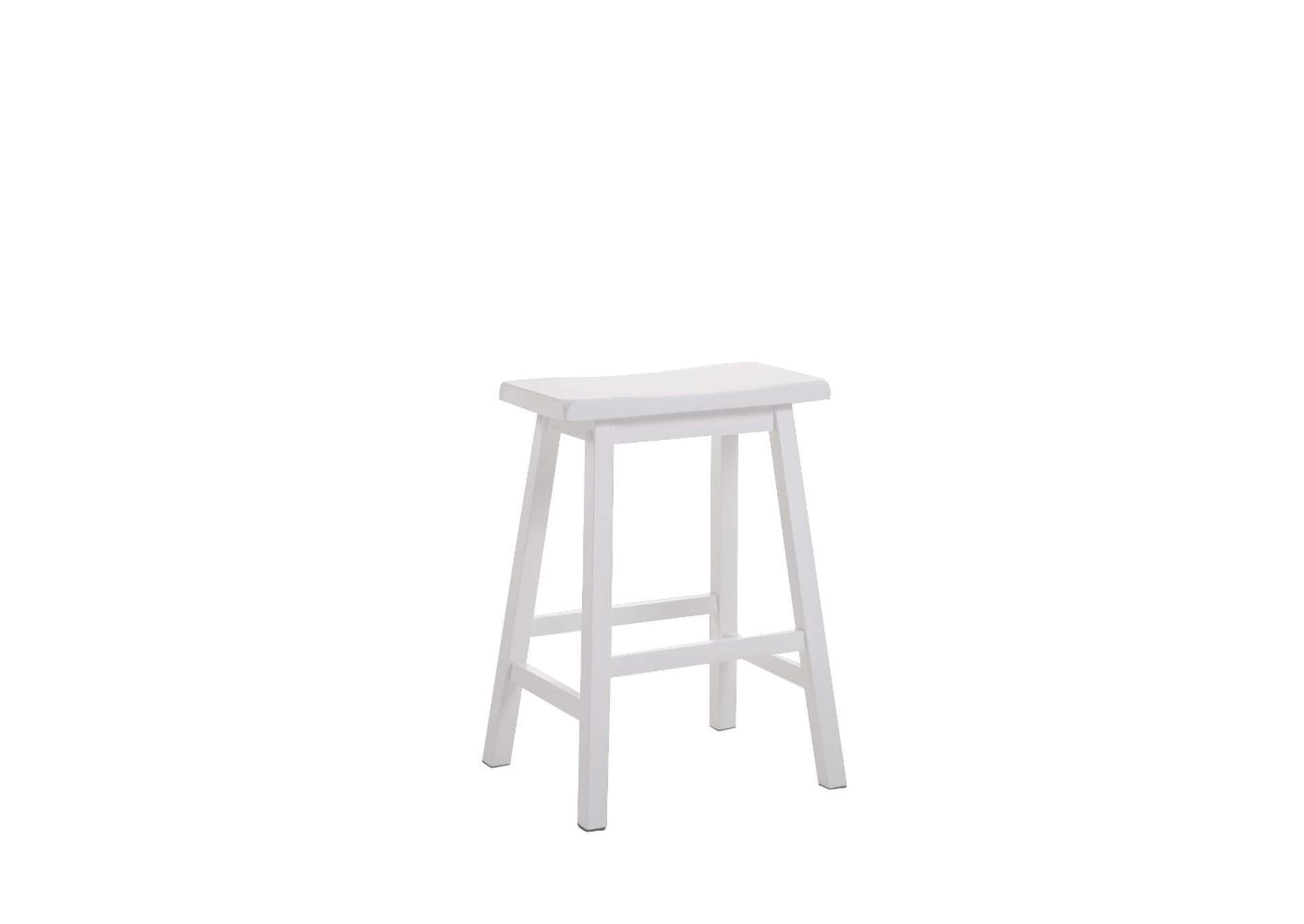 Gaucho White Counter Height Stool (Set-2),Acme