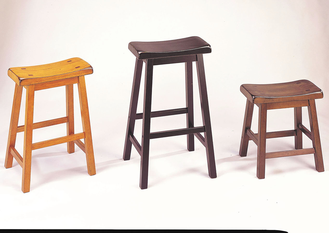 Gaucho Walnut Counter Height Stool (Set-2),Acme