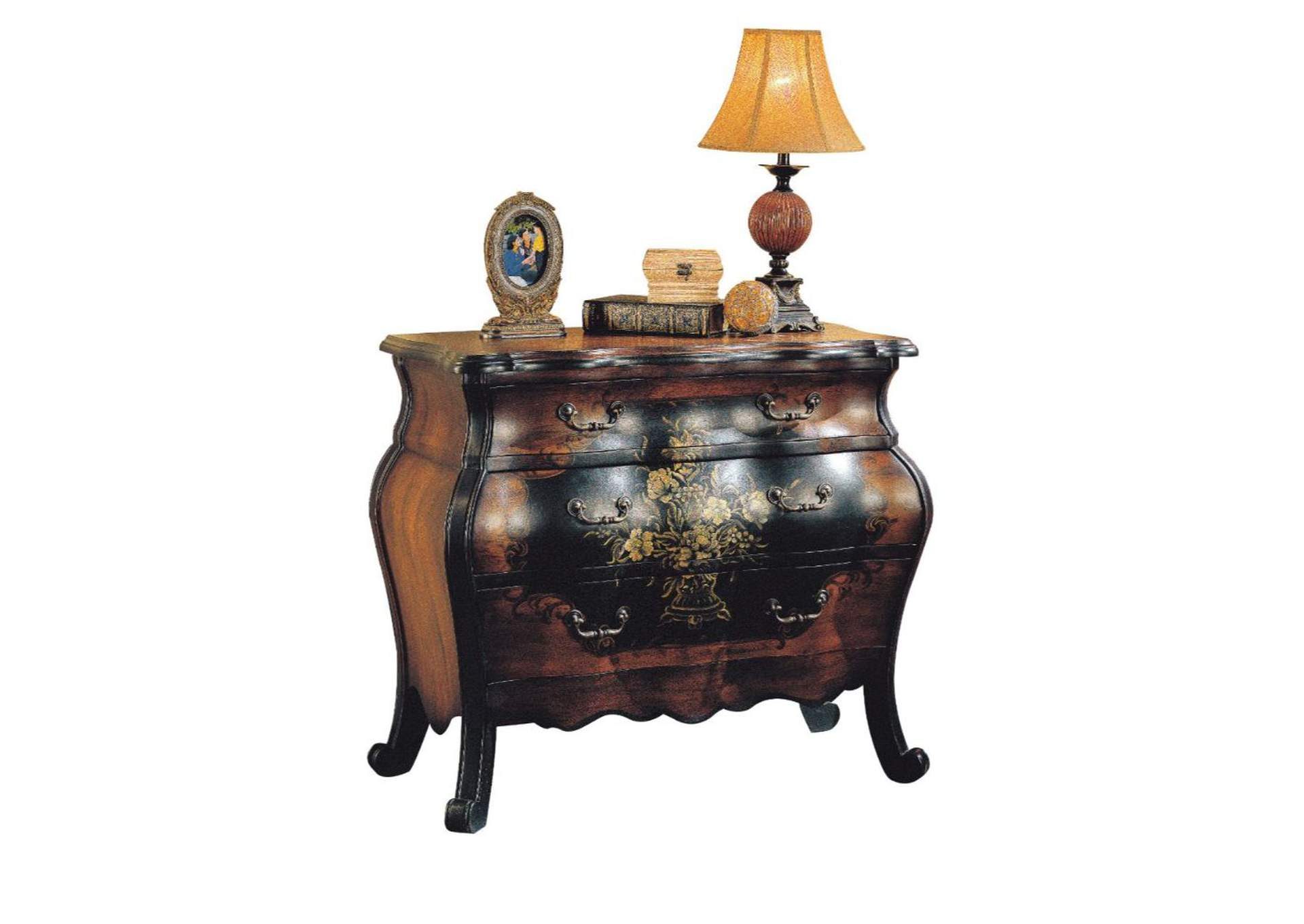 Roma Oak/Antique Black Bombay Chest,Acme