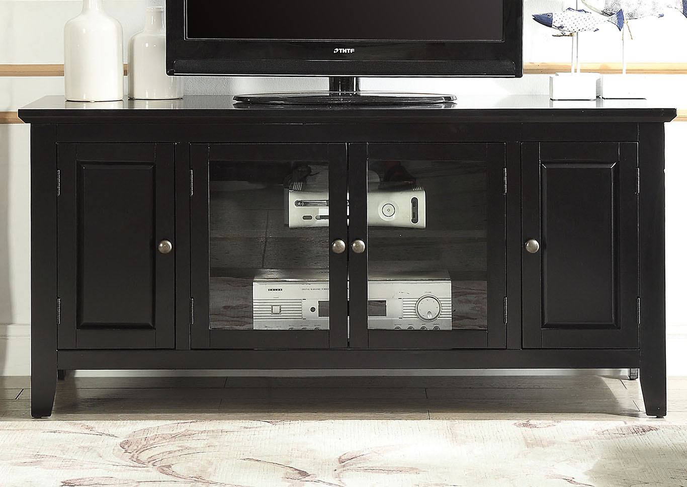 Christella Black TV Stand,Acme