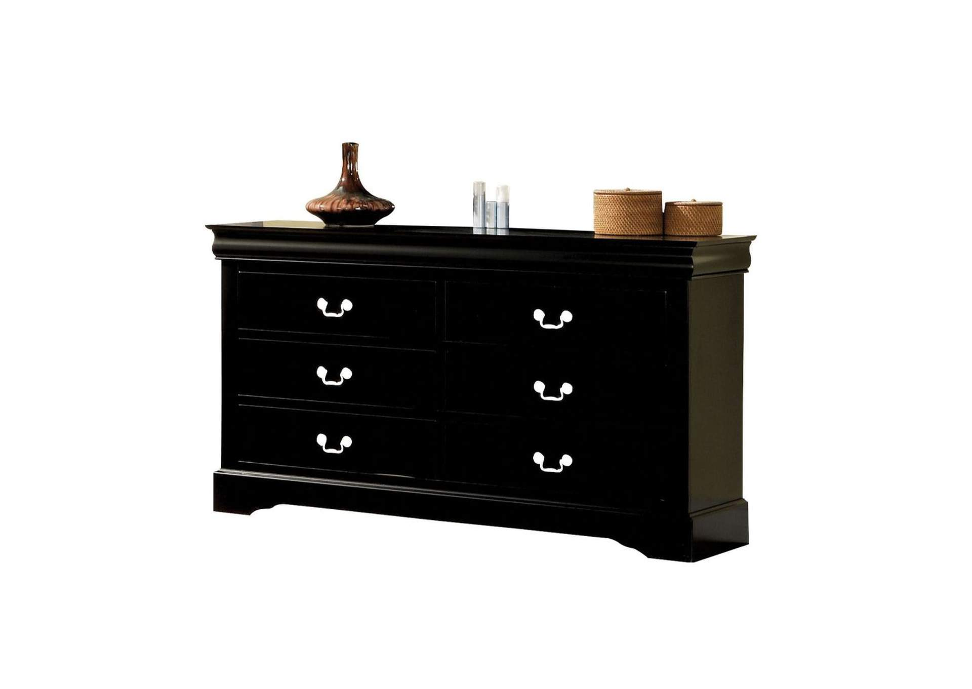 Louis Philippe III Black Dresser,Acme
