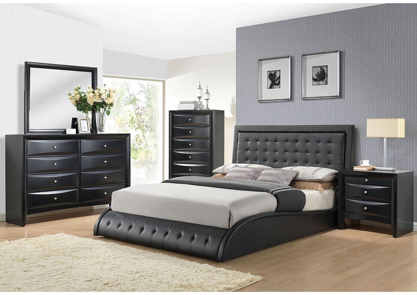 Tirrel Black Queen Bed,Acme