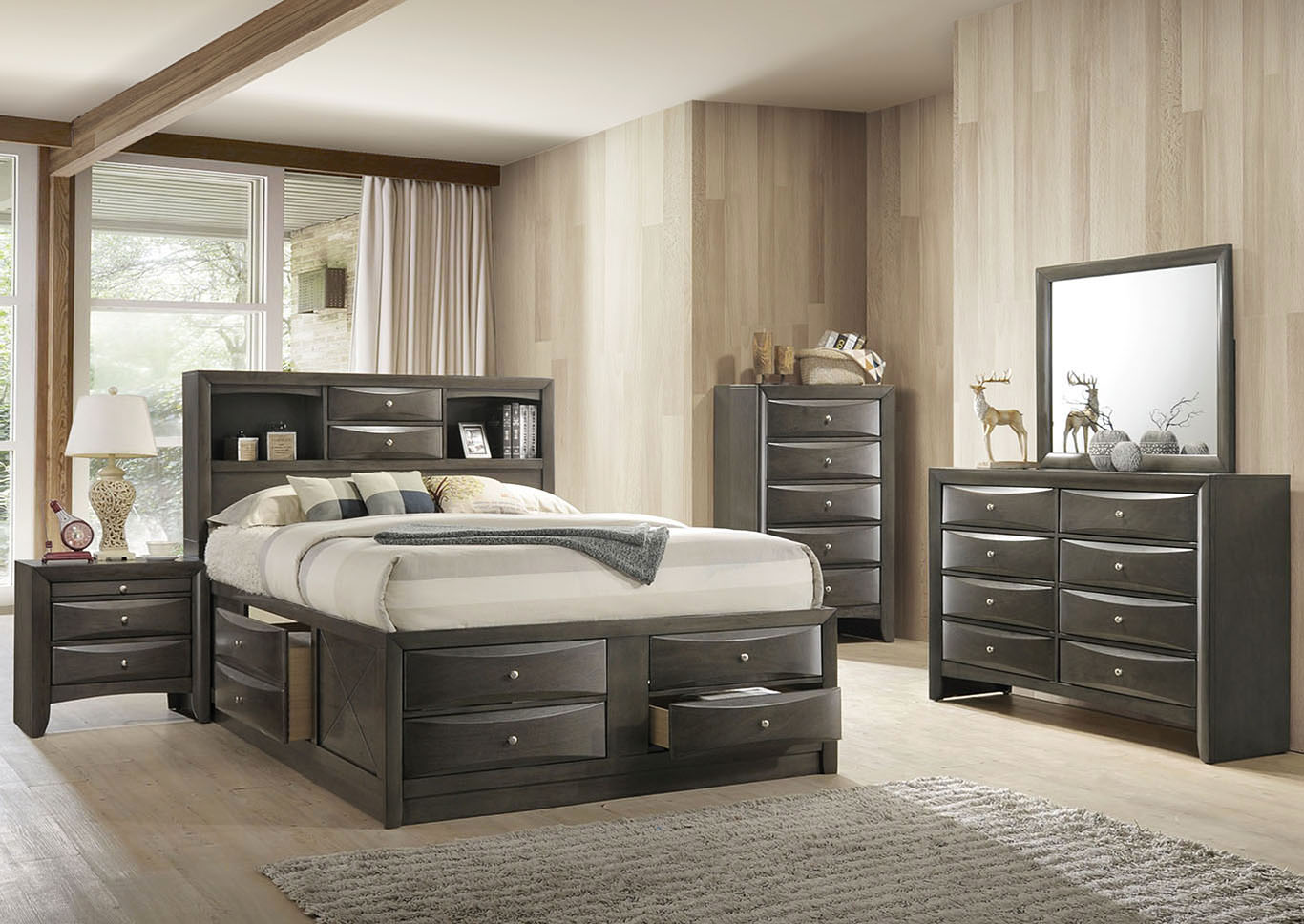 Ireland Gray Oak Full Bed,Acme