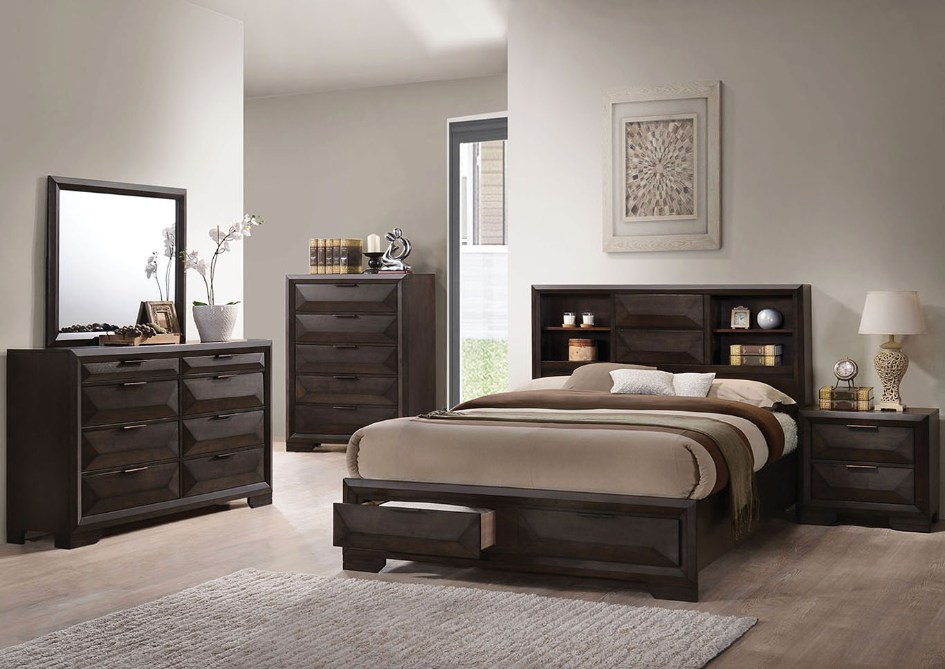 Merveille Espresso Queen Bed,Acme