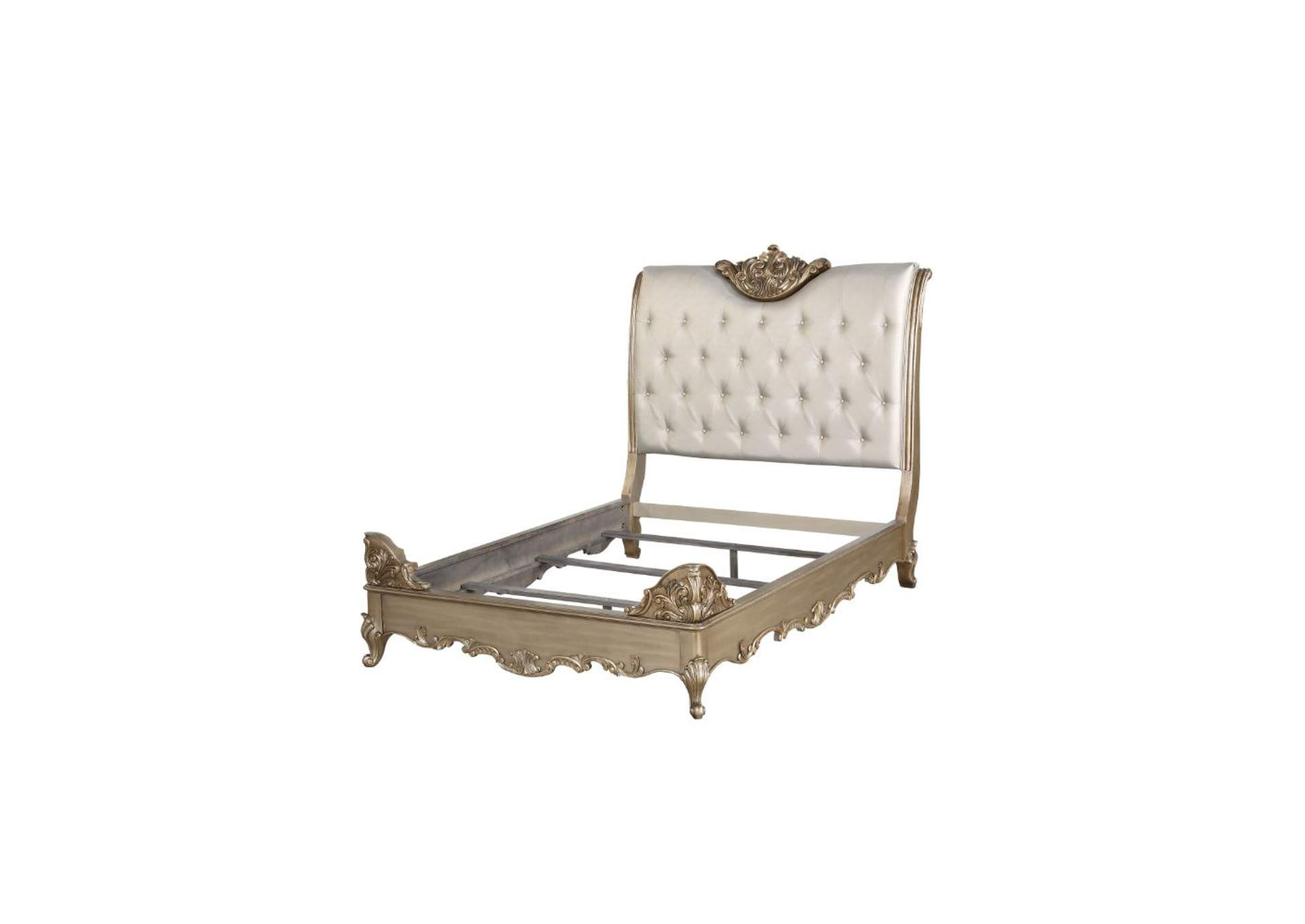 Orianne Champagne/Antique Gold California King Bed,Acme