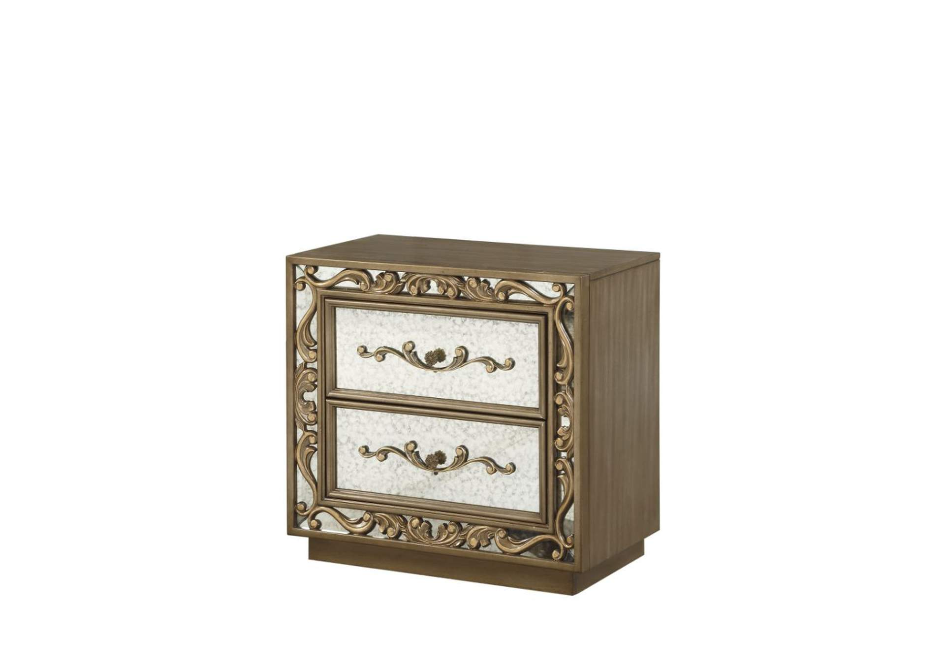 Orianne Antique Gold Nightstand,Acme
