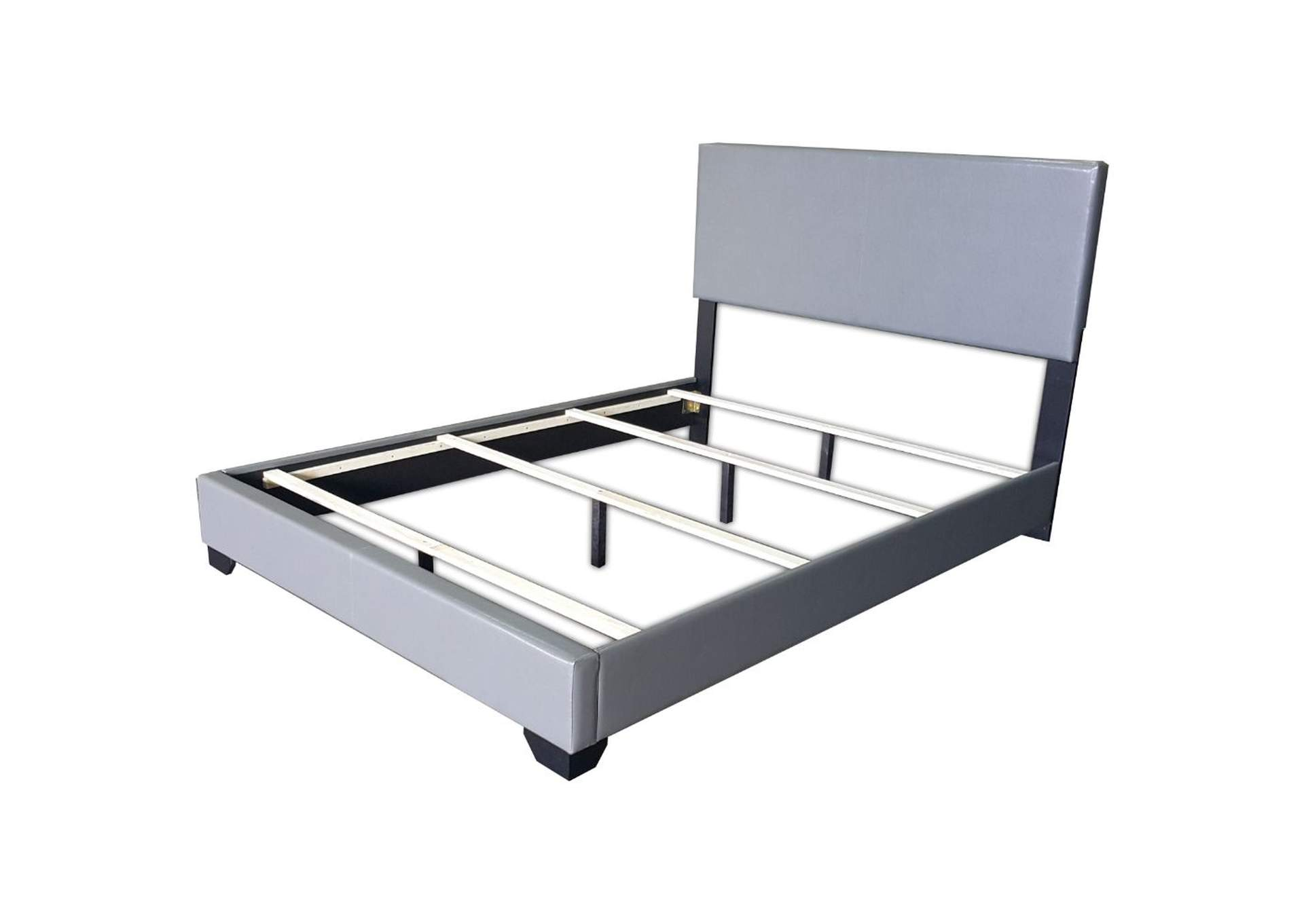Ireland III Gray PU Queen Bed,Acme