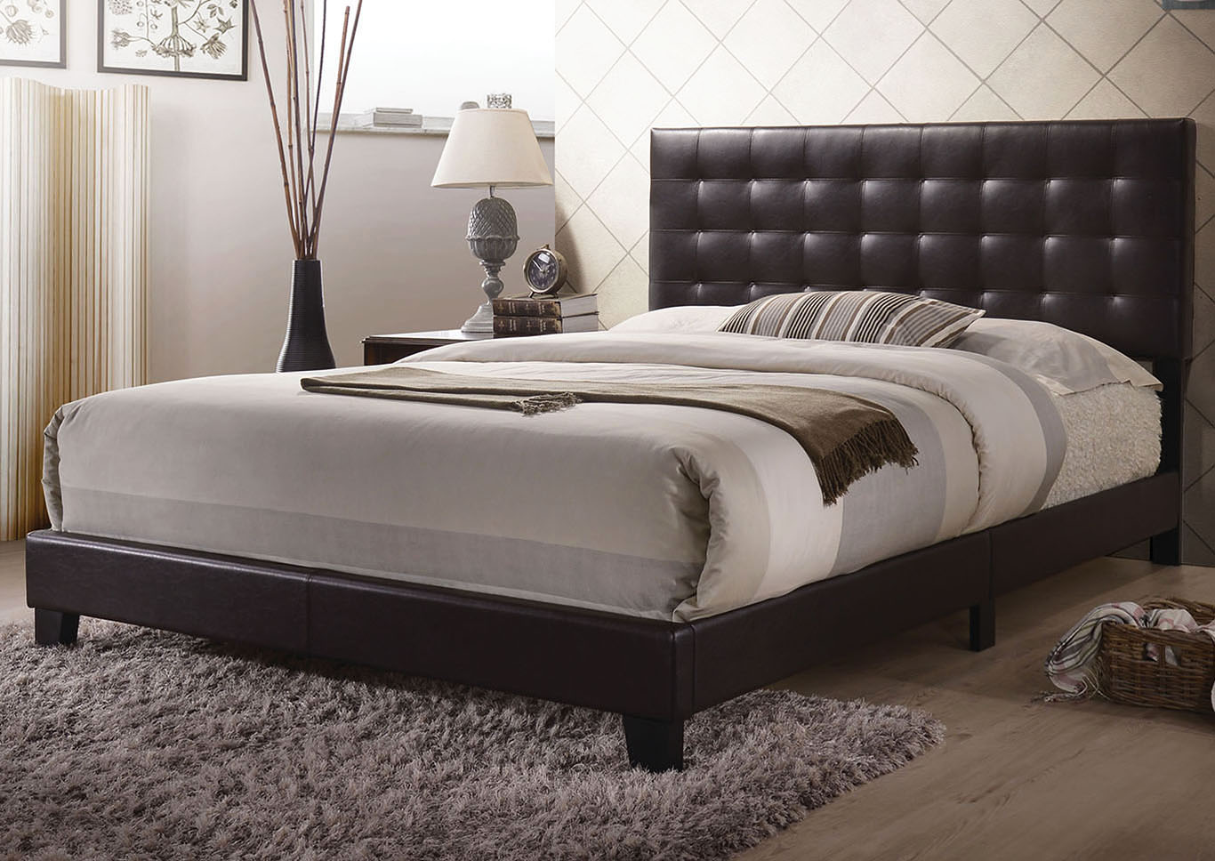 Masate Espresso Queen Bed,Acme