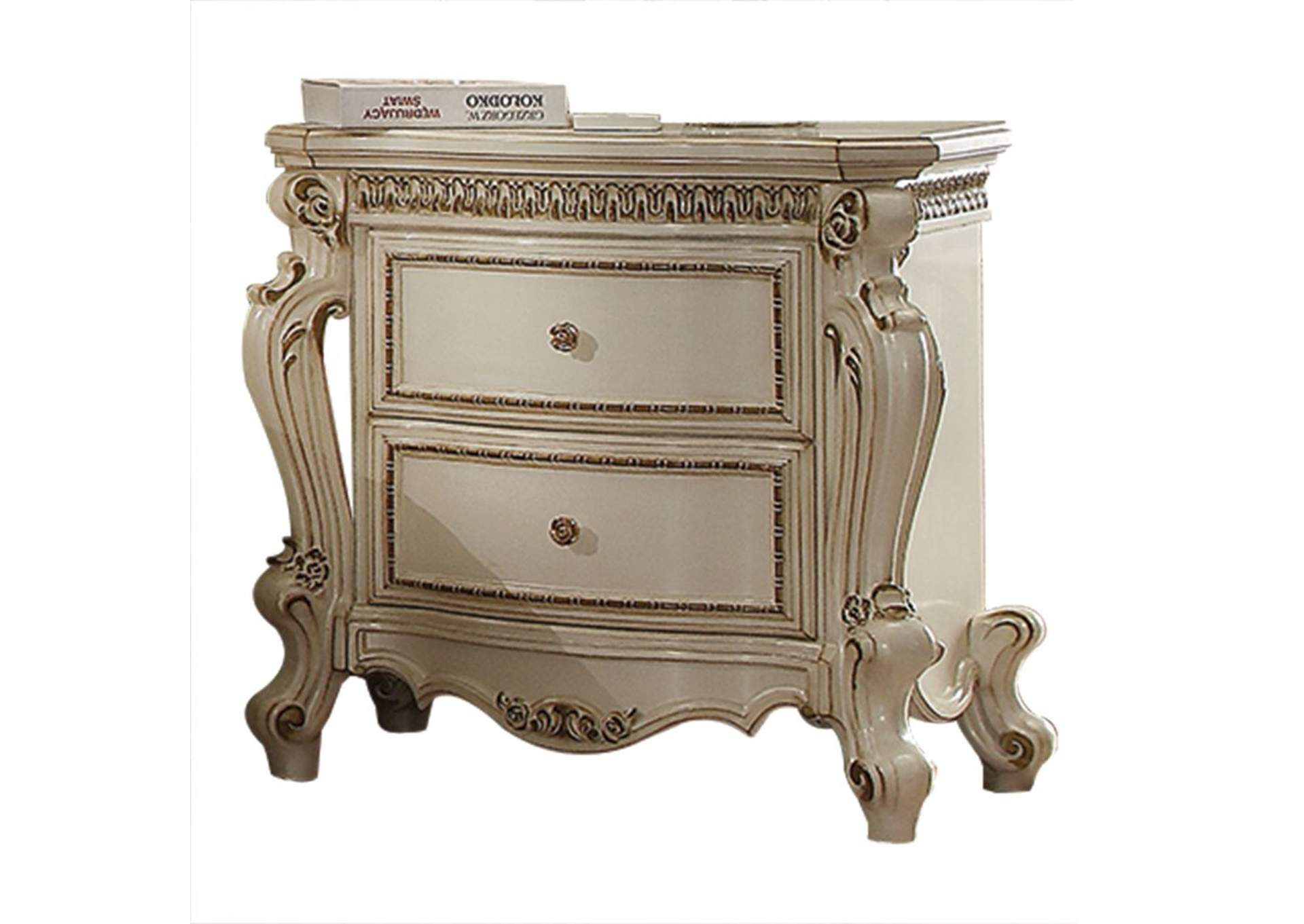 Picardy Antique Pearl Nightstand,Acme