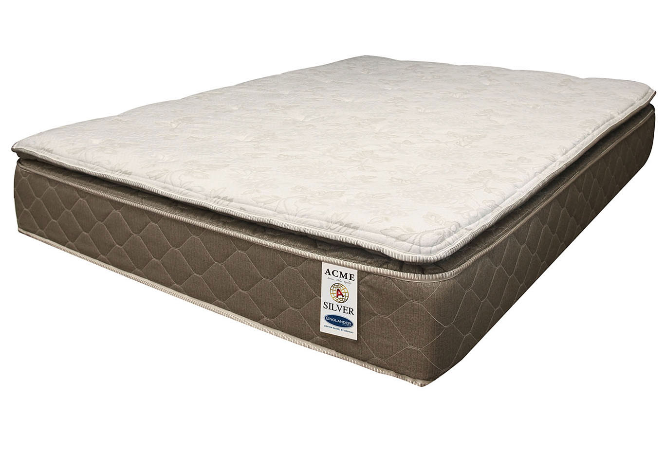 "Englander Silver 12"" Pillow Top Twin Mattress,Acme"