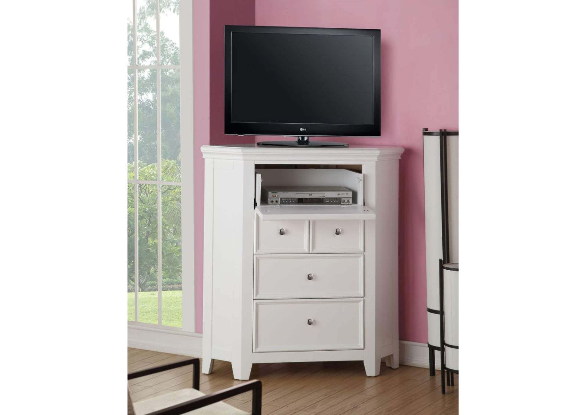 Lacey White TV Stand,Acme