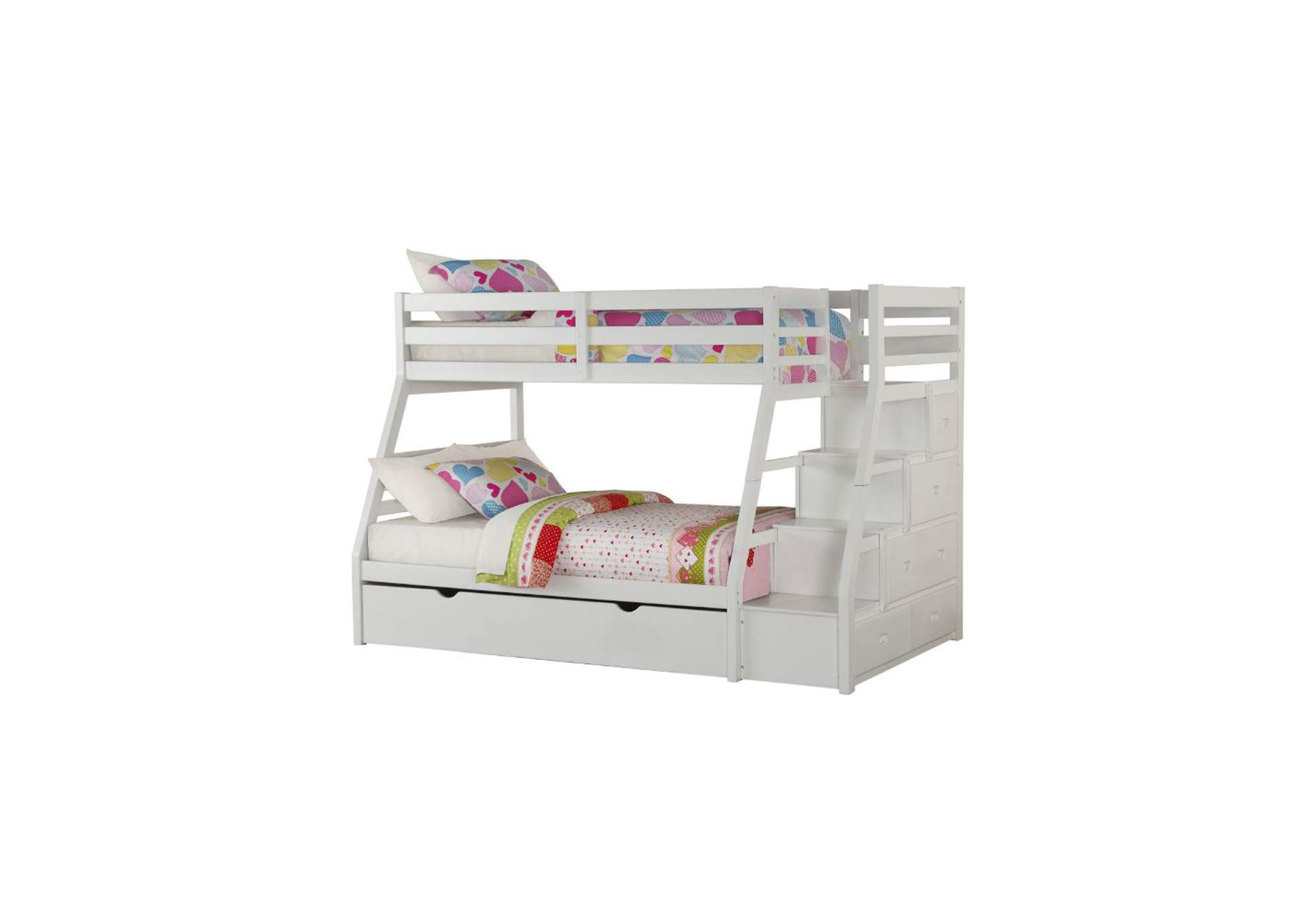Jason White Twin/Full Bunk Bed,Acme