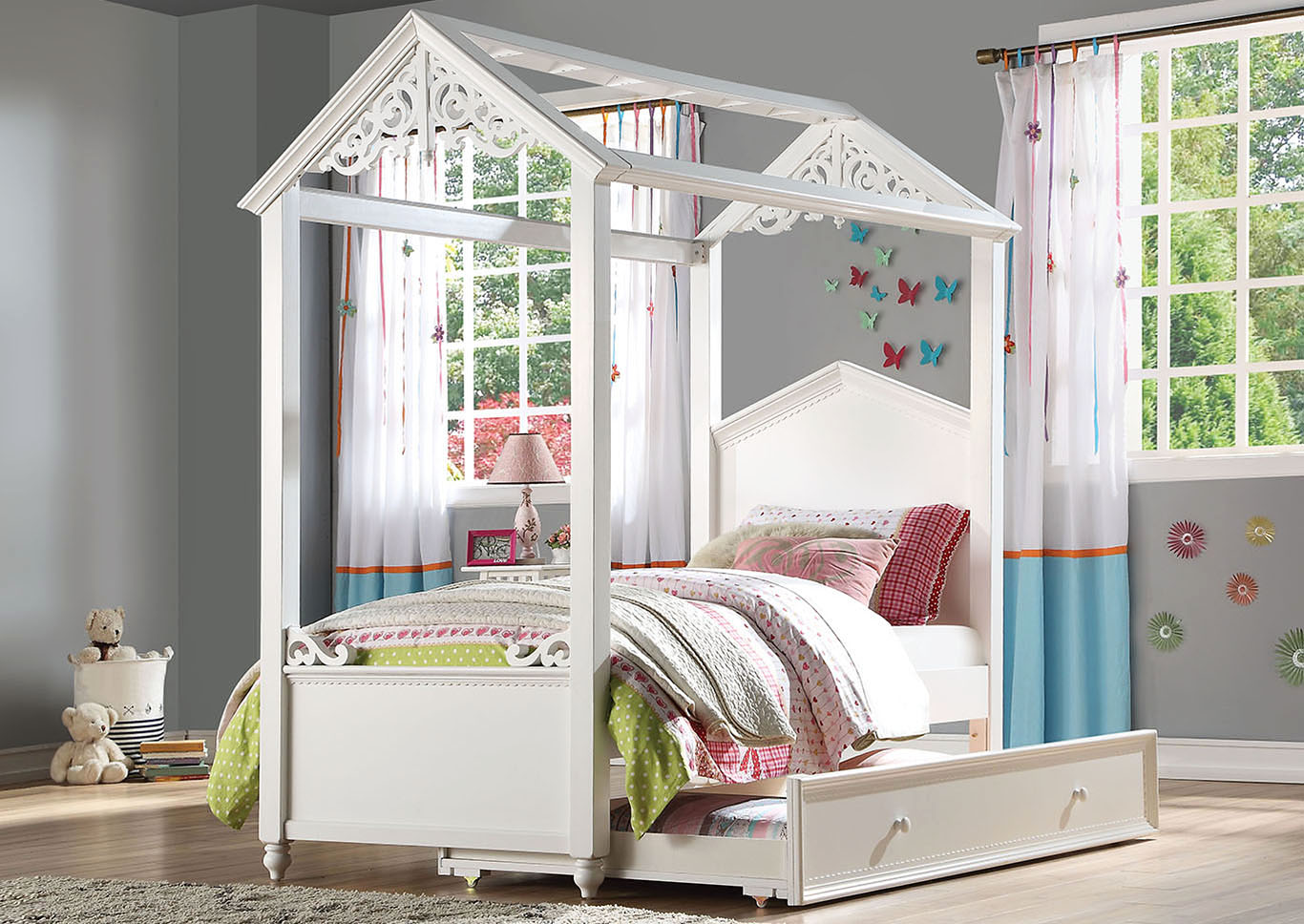 Rapunzel White Full Bed,Acme