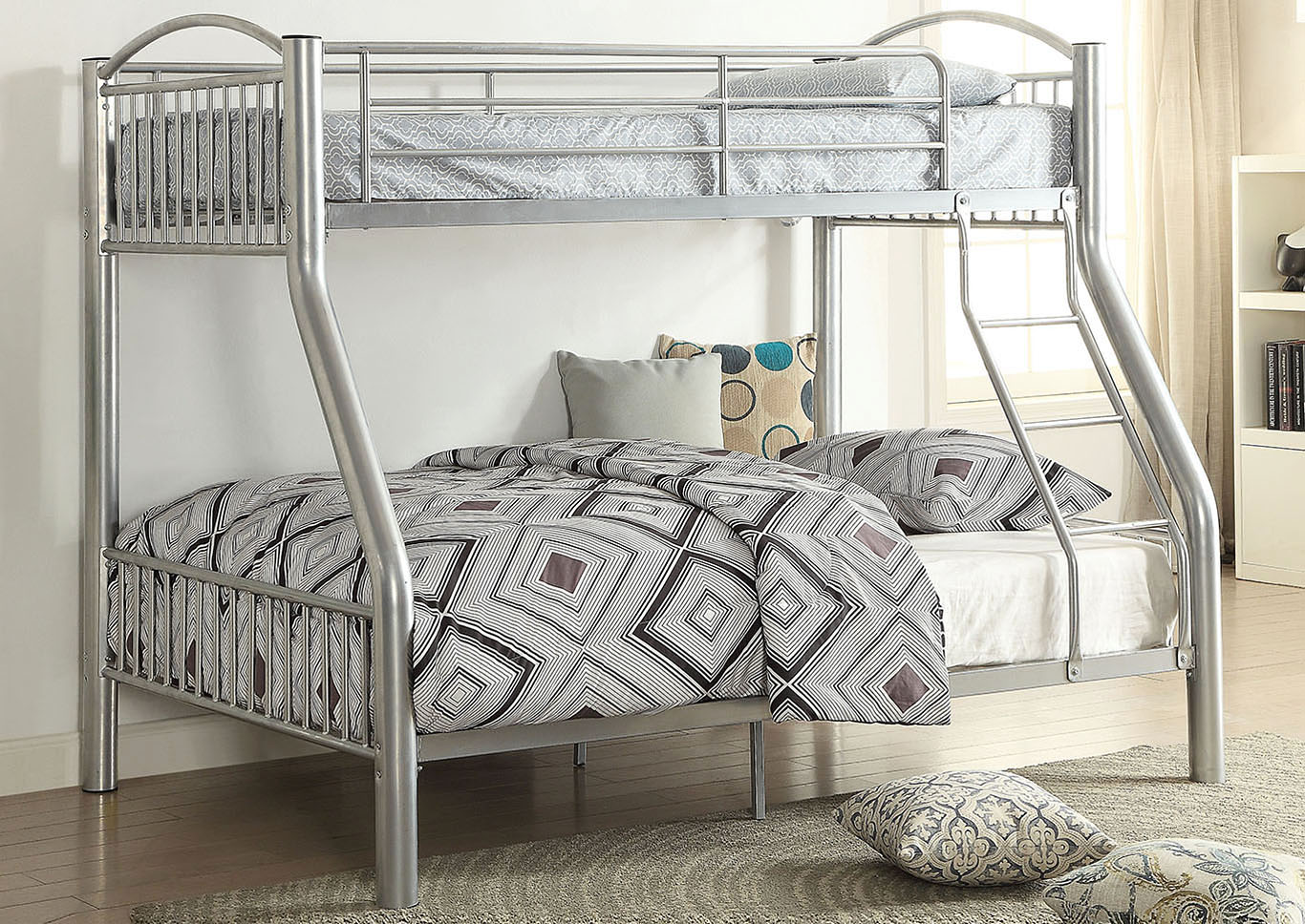 Cayelynn Silver Twin/Full Bunk Bed,Acme
