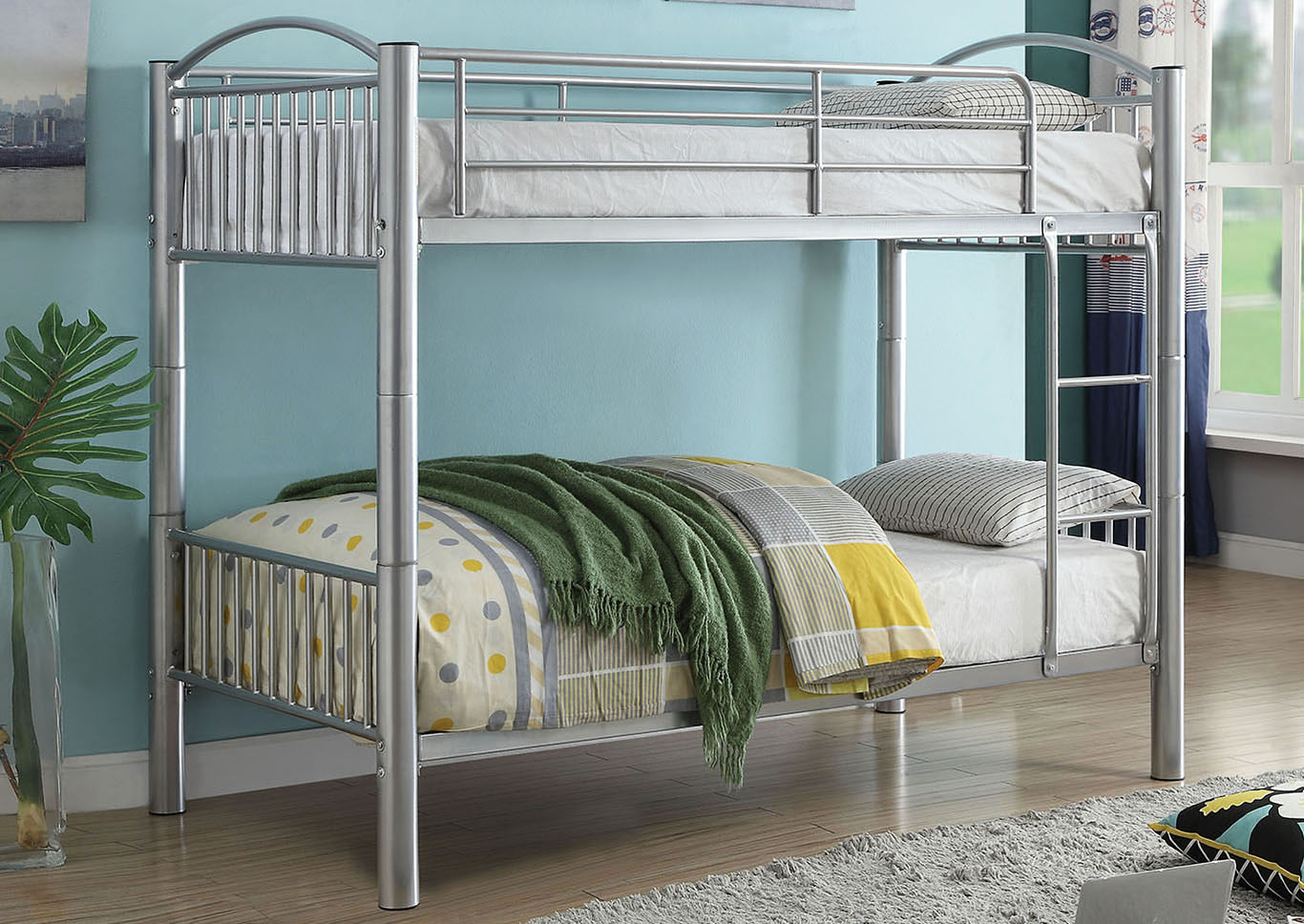 Cayelynn Silver Twin/Twin Bunk Bed,Acme