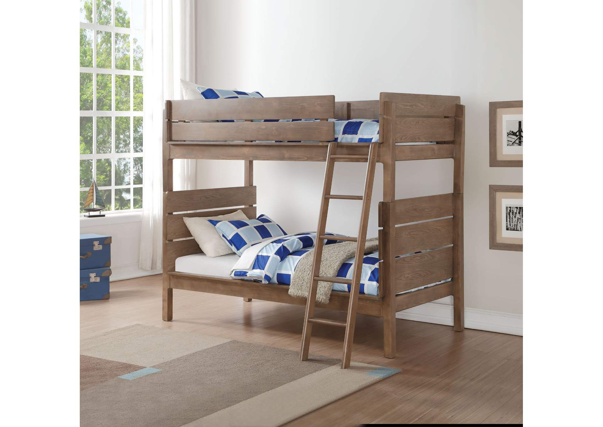 Ranta Antique Oak Twin/Twin Bunk Bed,Acme