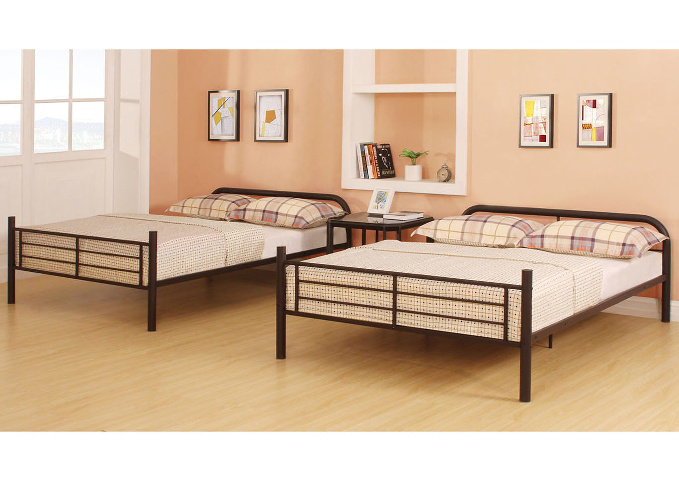 Bristol Brown Full/Full Bunk Bed,Acme