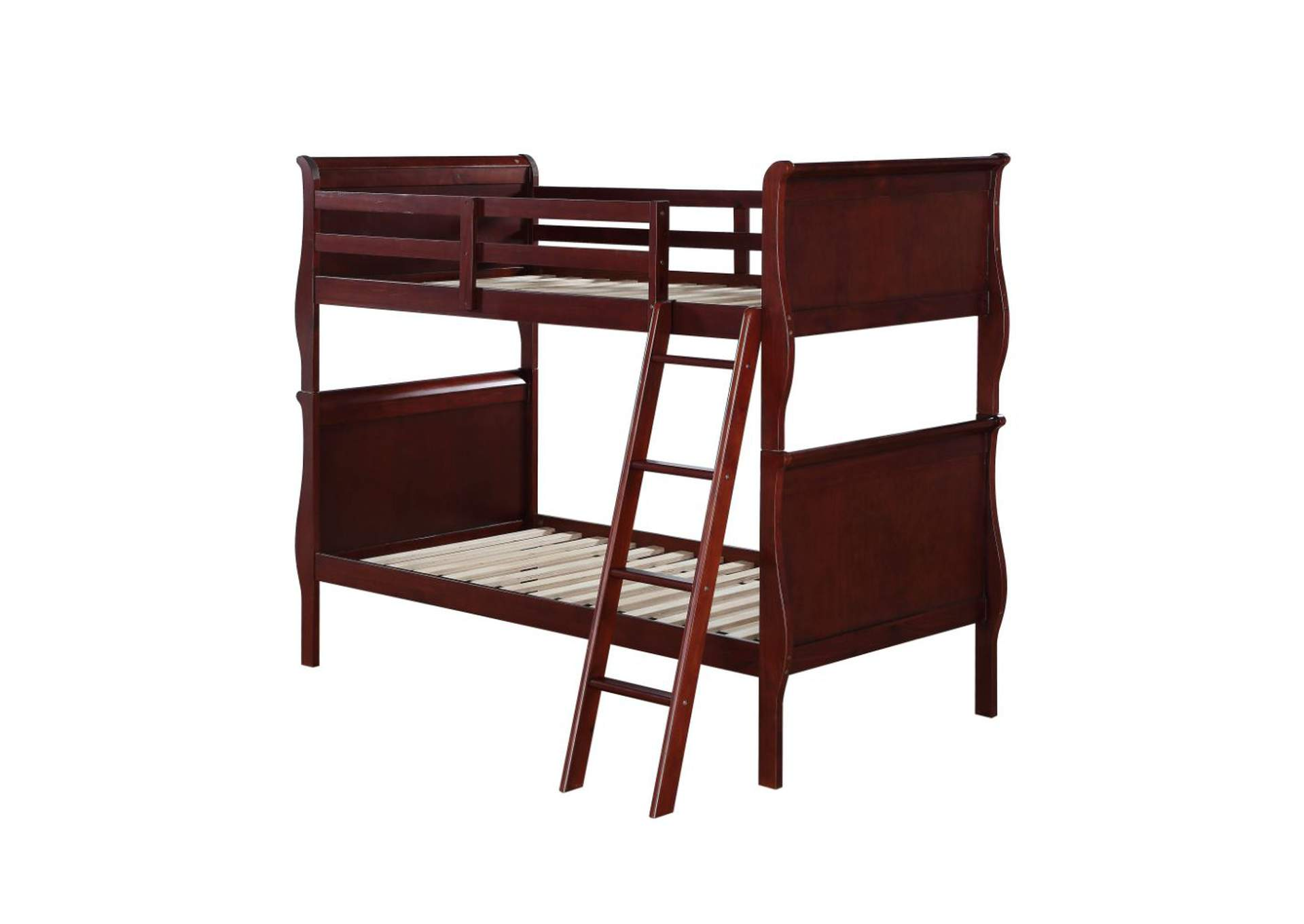 Louis Philippe Cherry Twin/Twin Bunk Bed,Acme
