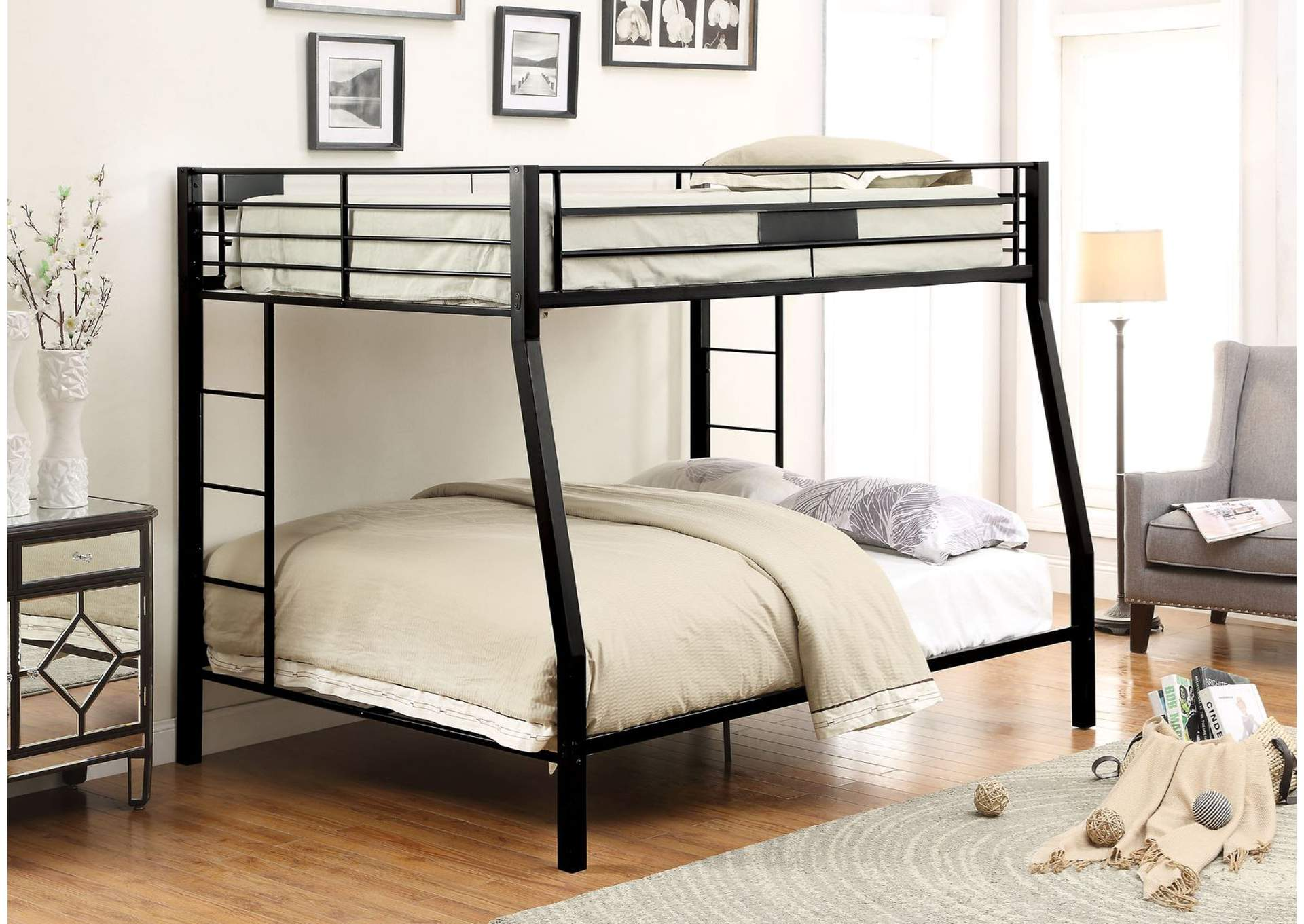 Limbra Sandy Black Full XL/Queen Bunk Bed,Acme
