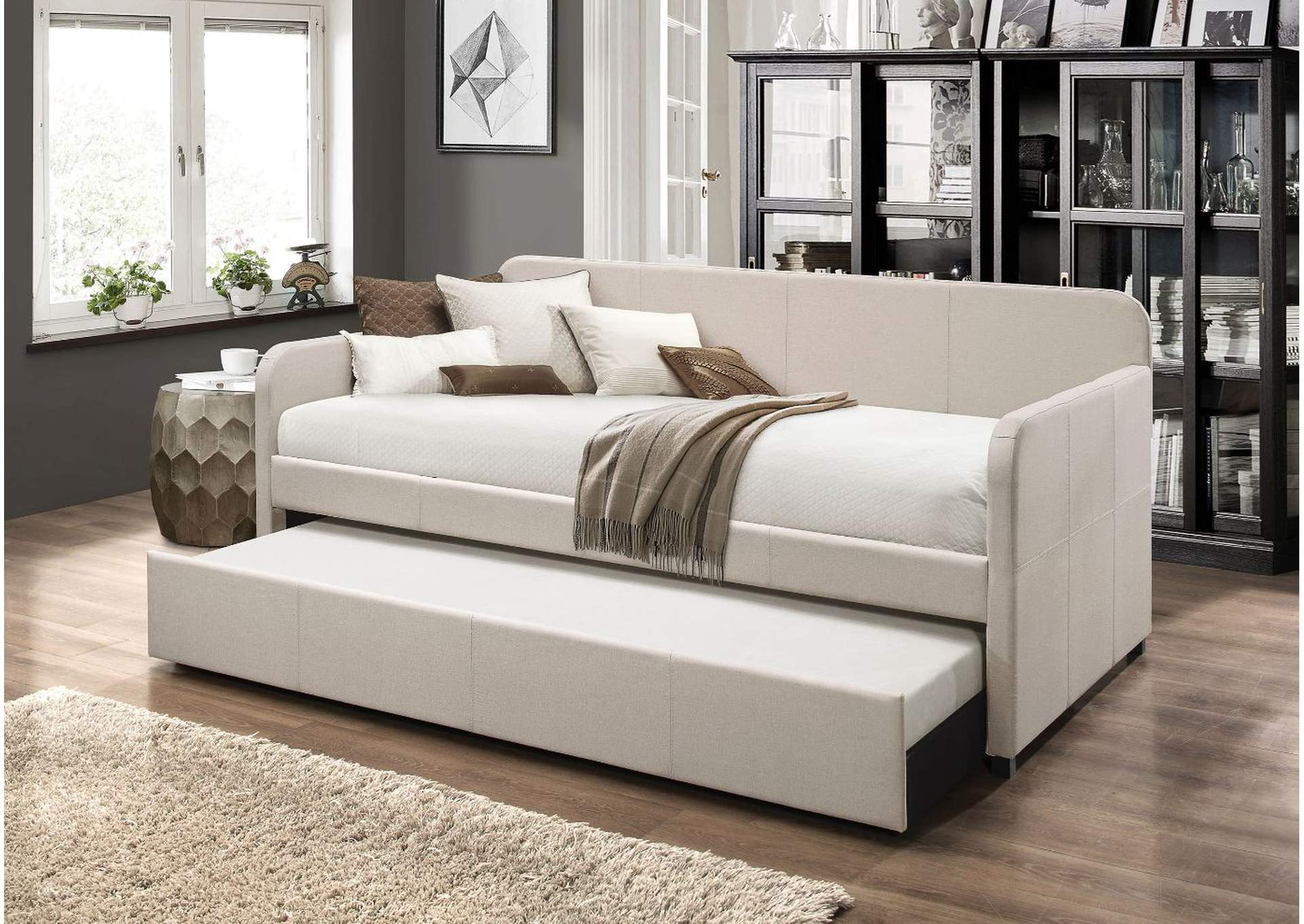 Jagger Fog Fabric Daybed,Acme