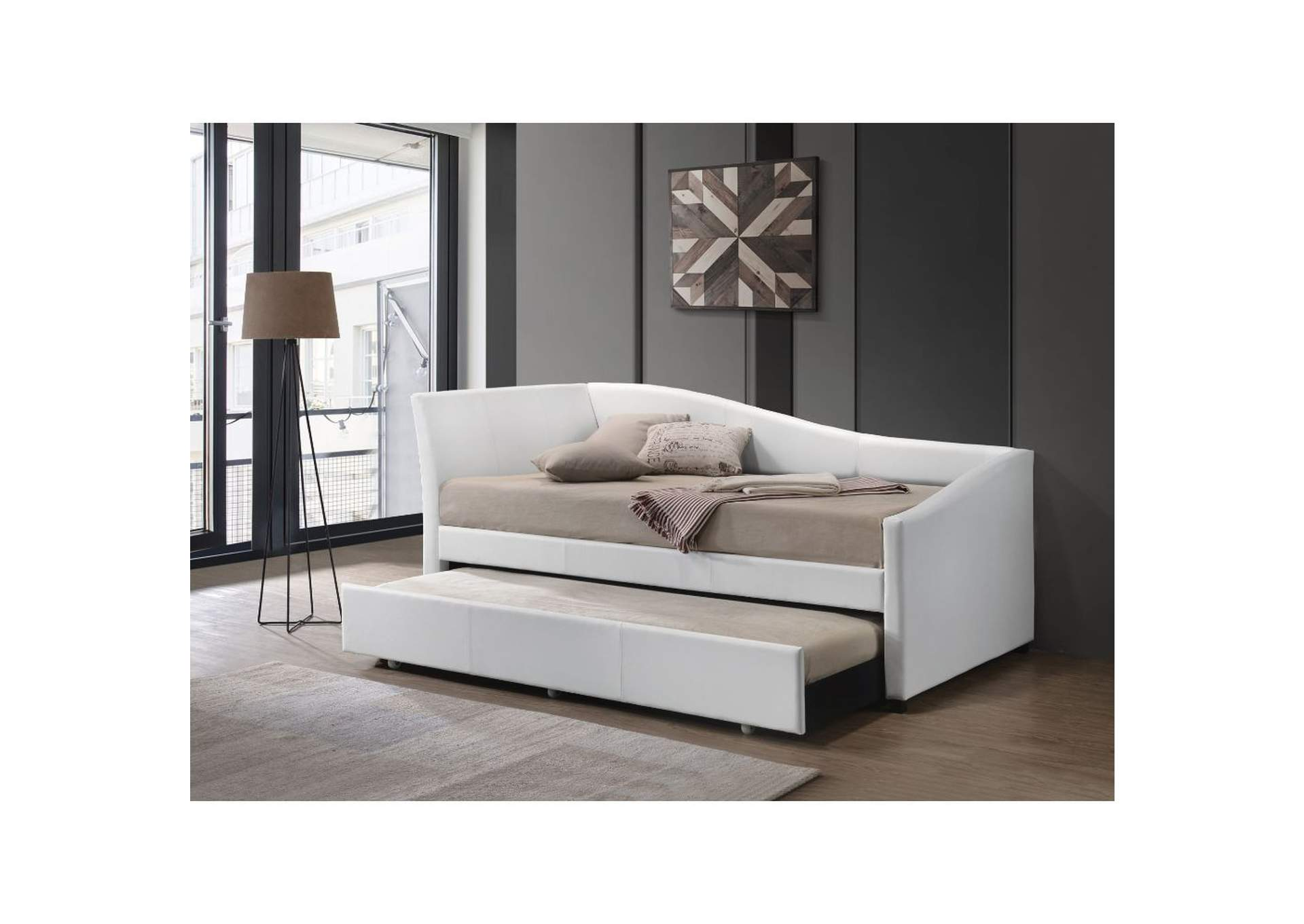 Jedda White Twin Daybed and Trundle,Acme