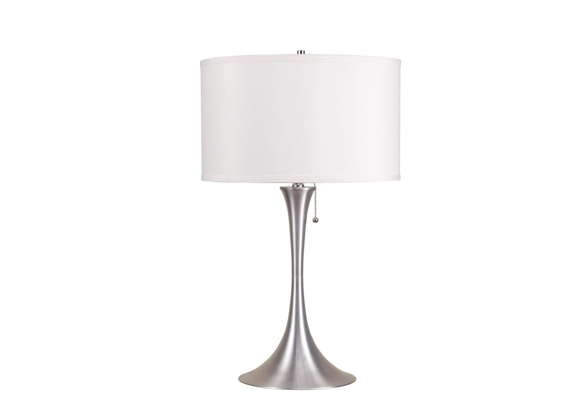 Cody Brushed Silver Table Lamp,Acme