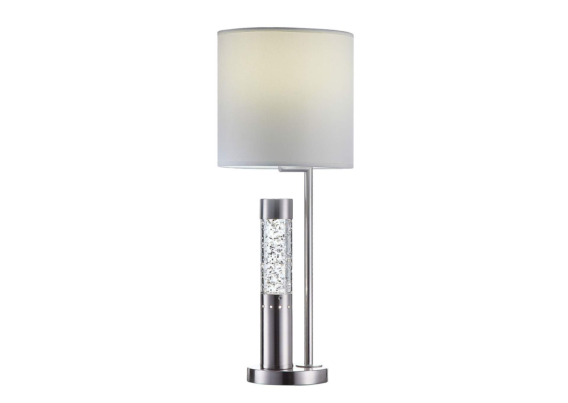 Claus Brushed Nickel Table Lamp,Acme